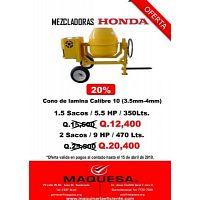 MEZCLADORA DE CONCRETO EN OFERTA MOTOR HONDA!!