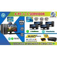 OMBOS DE 05 COMPUTADORAS HP,PARA ACADEMIAS, COLEGIOS,INSTITUTOS