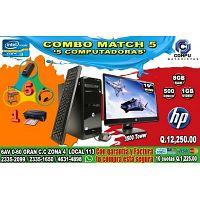 COMBO TODO INCLUIDO DE 05 COMPUTADORAS HP, PROCESADOR COREi3