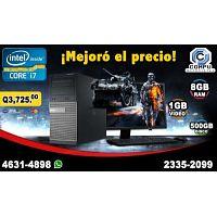 COMPUTADORAS RÁPIDAS CON PROCESADOR COREi7, CON 08GB RAM, 500 DISCO DURO