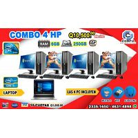 COMBO 4+1 COMPUTADORAS HP+ 01 LAPTOP COREi5, Todo por Q 10.500.00