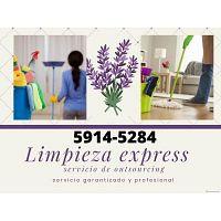 Servicio express de limpieza, niñera, cocinera, lavado y planchado