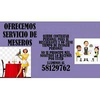 SERVICIO DE MESEROS POR DÍA O MES