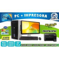 COMPUTADORAS HP +IMPRESORA EPSON L3110, A TAN SOLO Q 3,150.00