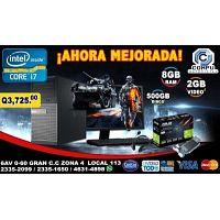 COMPUTADORAS LINEA GAMERS COREi7, 08GB MEMORIA RAM, 500, 02GB TARJETA DE VÍDEO