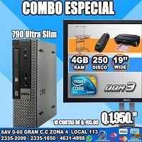 COMPUTADORAS DELL+MUEBLE+IMPRESORA CANON+REGULADOR, A Q 1,950.0